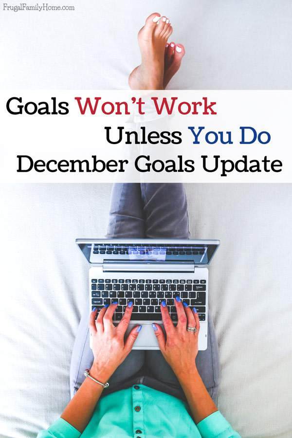 How my November goals went and what's on my goal plan for December.