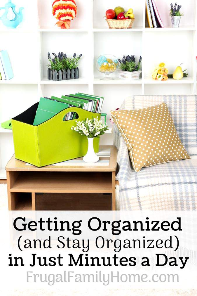 A few organizing tips and tricks to banish clutter from your home in just minutes a day. Plus tips on how to stay organized once all the clutter is gone. Tip number 2 is one tip that has helped me the most. It seems so simple but it really does work.