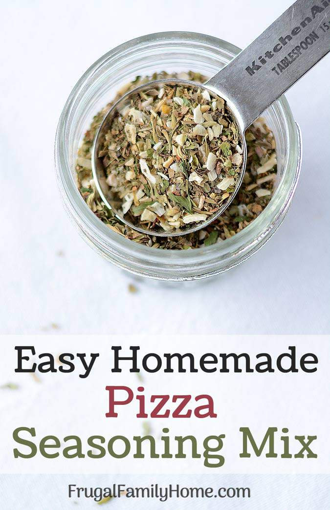 Homemade Pizza Seasoning Mix ~ This recipe is an easy DIY recipe for pizza seasoning mix. It's simple to make at home and really jazzes up the flavor of pizza.