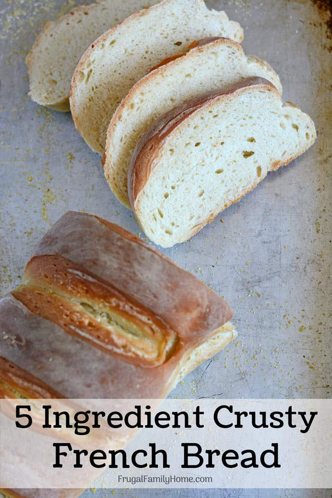 The Best Homemade French Bread Recipe ~ Only 5 ingredients needed to make your own crusty and delicious french bread at home. This is a tried and true easy recipe we use all the time that only cost $.17 a loaf. It always turns out delicious and pretty too.