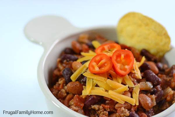 An easy chili recipe the is prepared in the skillet. It can be made with ground beef or make it vegetarian either way it's a simple, easy and inexpensive meal.