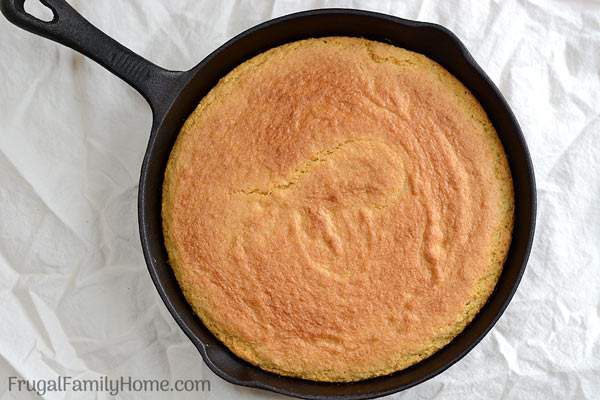 A yummy sweet cornbread recipe you can make from scratch in no time. I bake the cornbread in a skillet but it can be baked in a baking pan too.