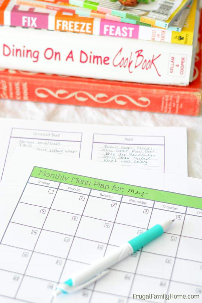 How To Plan A MonthS Worth Of Meals In About An Hour