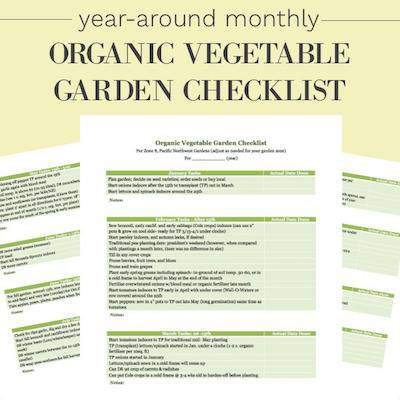 Vegetable Garden Checklist