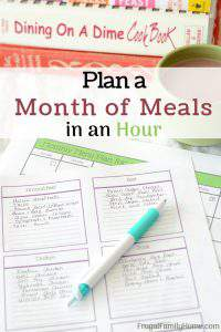 How to Plan a Month's Worth of Meals in about an Hour