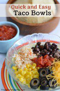 Quick and Easy Taco Bowls with Ground Beef