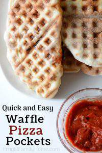Quick and Easy Homemade Waffle Pizza Pockets