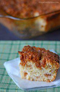 Quick and Easy Rhubarb Crumble Coffee Cake