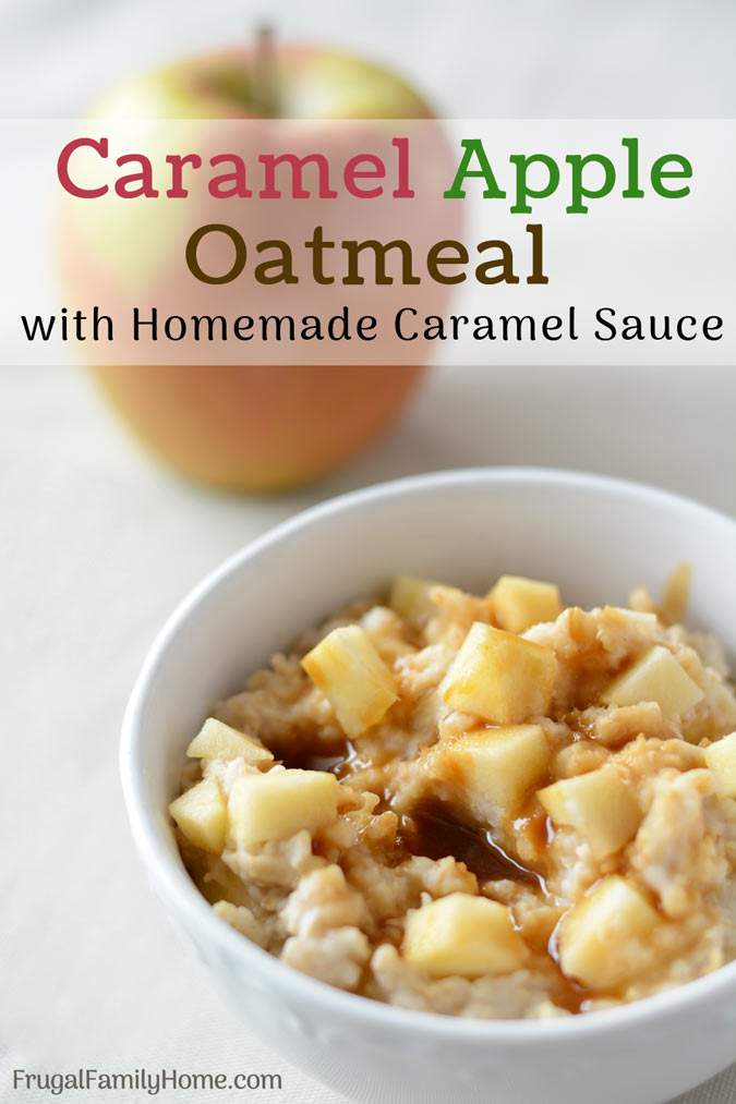 This is an easy breakfast recipe for caramel apple oatmeal. The brown sugar caramel topping is made dairy free and this recipe also has an option for making it gluten free too. The next time you have a caramel apple craving at breakfast make this recipe, it will hit the spot.