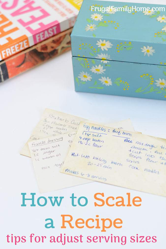 How to scale a recipe to adjust the servings up or down. With these three tips, you can scale your recipe successfully to feed more people or cut it down to feed less.