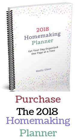 Get your day organized one page at a time with the 2018 Homemaking Planner
