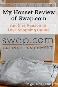 Do you love to online shop but wish there was an online consignment store? I just discovered one and here's my totally honest review of my first purchase from Swap.com. Find good quality used items at great prices right from your home. It's perfect for frugal moms, who hate to shop like me.