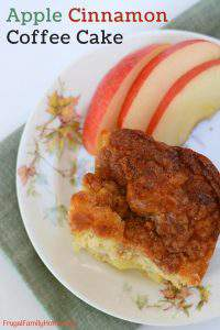 Apple Cinnamon Coffee Cake, an Easy Coffee Cake Recipe from Scratch