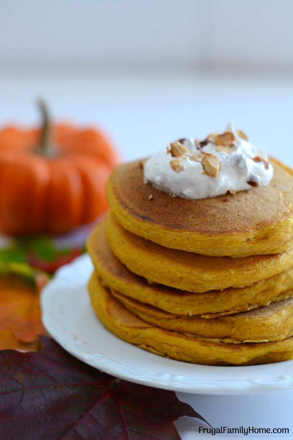 Easy pumpkin spice pancakes from scratch dairy and egg free easy pumpkin pancakes these pumpkin spice pancakes are easy to make from scratch i ccuart Choice Image