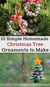 10 Easy Homemade Christmas Tree Ornaments to Make