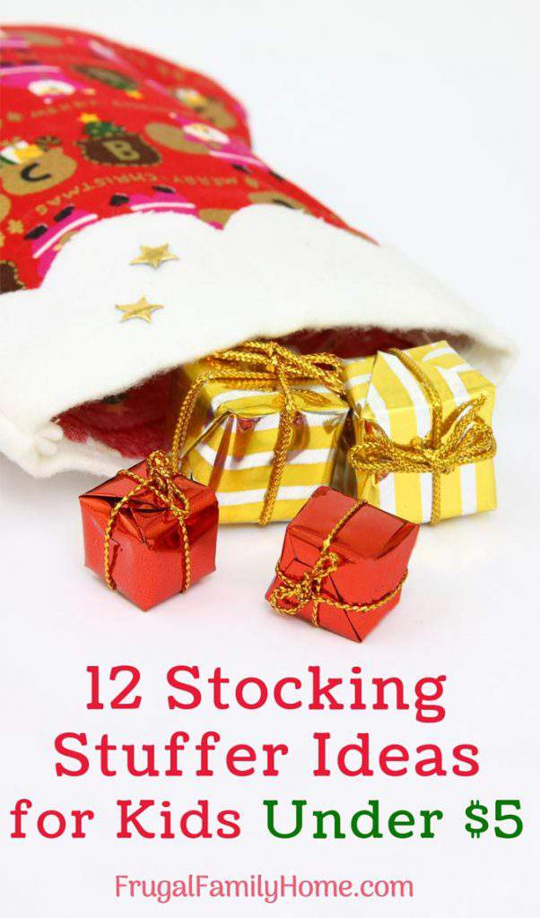 12 stocking stuffer ideas for kids under $5. Get stocking stuffers your kids will love without spending a bundle.