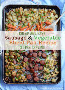 Cheap and Easy Sausage and Vegetable Sheet Pan Dinner