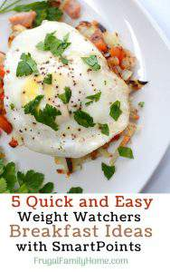 5 Quick and Easy Weight Watchers Breakfast Ideas