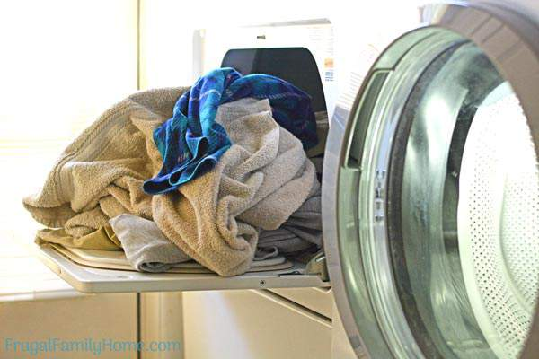 Tips to help you keep up with your laundry a Frugal Family Home Podcast