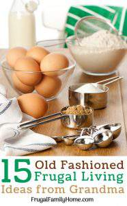 Items to make food from scratch for old fashioned frugal living ideas