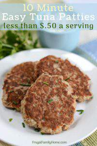 Tuna patties banner photo for how to make tuna patties.