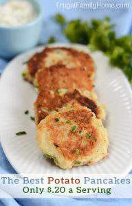 Easy Potato Pancakes with Chives and Parsley