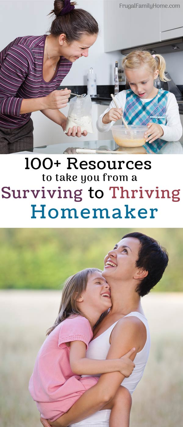 129 resources for the homemaker in the homemaking bundle.