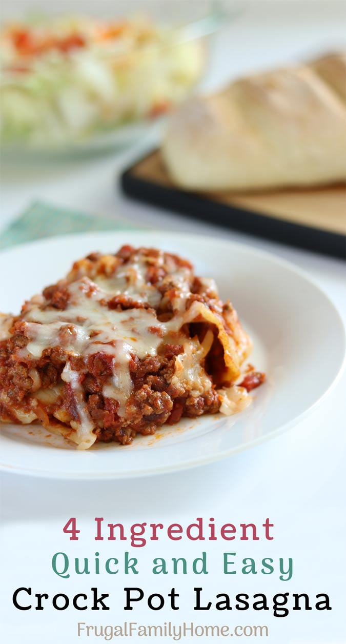 Crock pot lasagna on a plate to serve.