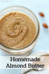 Homemade almond butter banner
