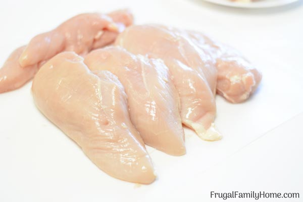 Chicken breast after deboning