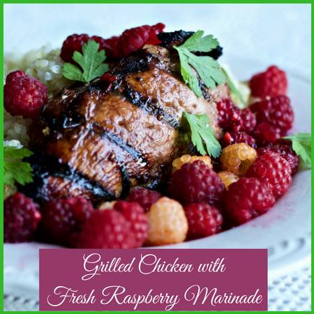 Diane's Chicken with RAspberry Marinade