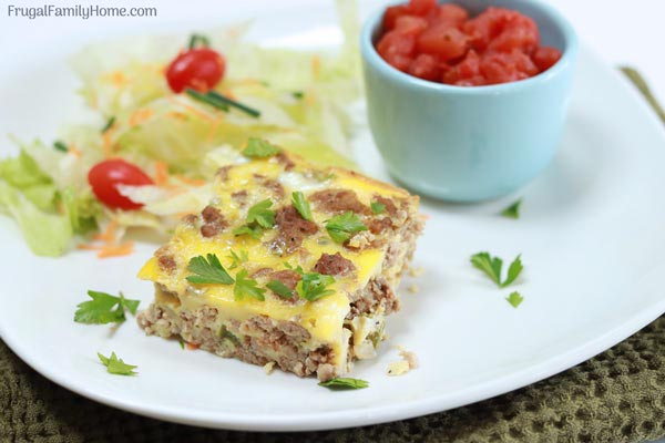 Under $1 a serving easy taco pie quiche