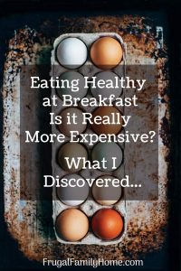 Egg for breakfast and is eating healthy more expensive
