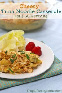 How to make tuna casserole with serving suggestion in photo
