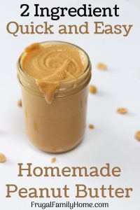 A jar of homemade peanut butter for how to make peanut butter