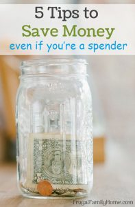 A jar with money is a good way to save money when you are a spender.