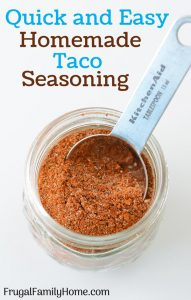 The finished homemade taco seasoning recipe