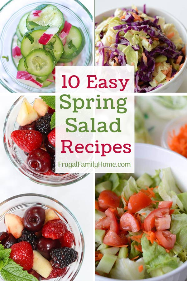Spring salad recipe that are easy to make