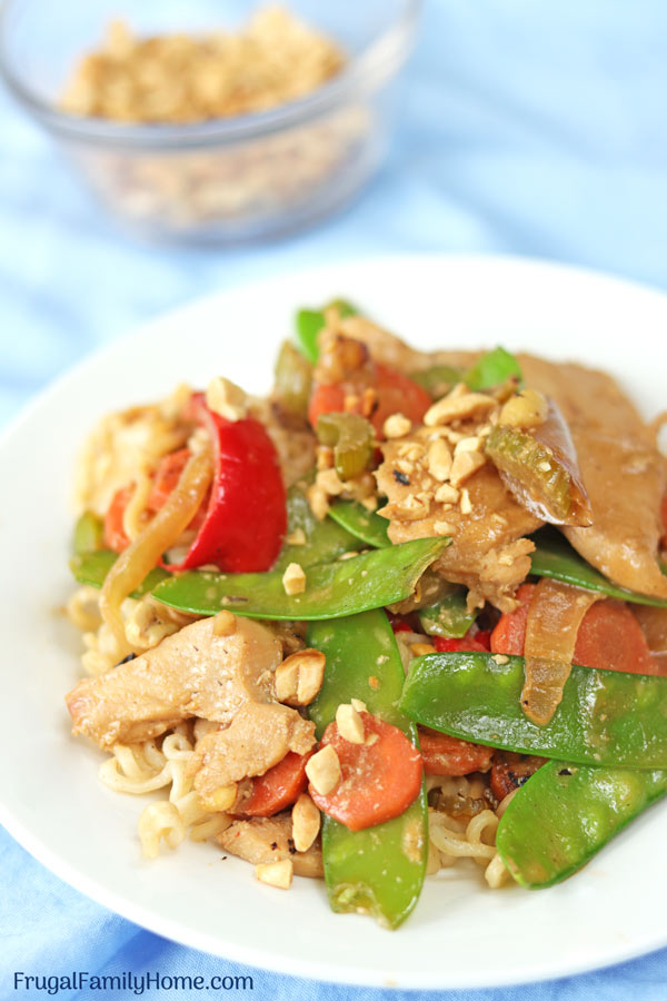 Plate of Thai Chicken Stir Fry
