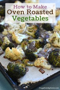 Oven roasted vegetable recipe photo