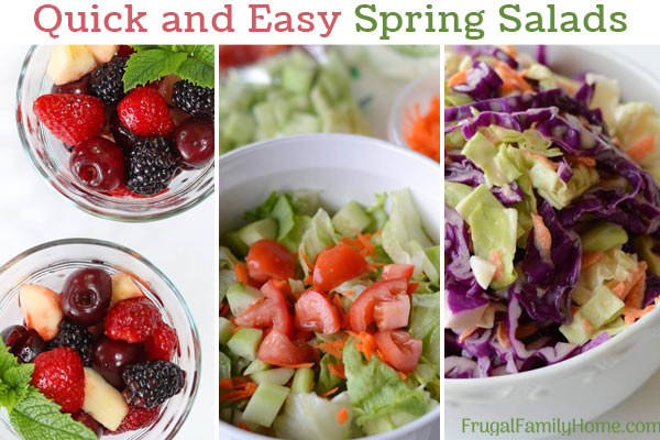 fruit and vegetable spring salad recipes