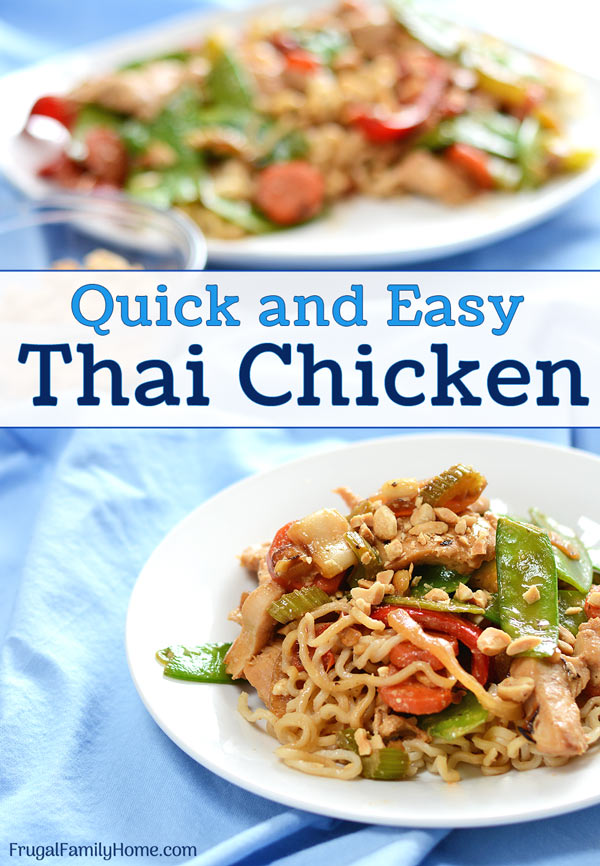 A serving of easy thai chicken