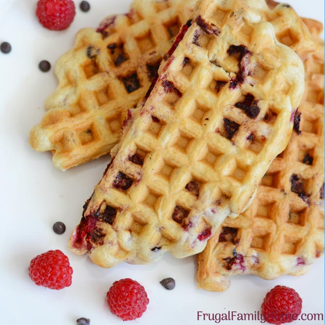 quick and easy homemade waffles from scratch.