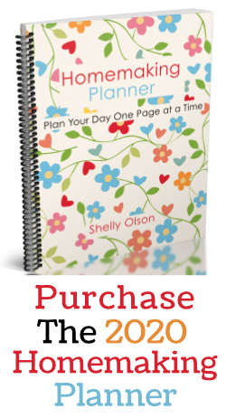 Purchase the 2019 Homemaking Planner