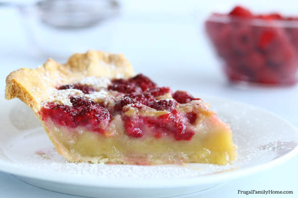 Homemade Layered Raspberry Custard Pie, A simple and delicious pie recipe, your family will love