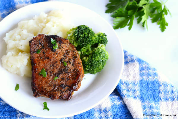 A serving of the easy crock pot pork chops recipe.